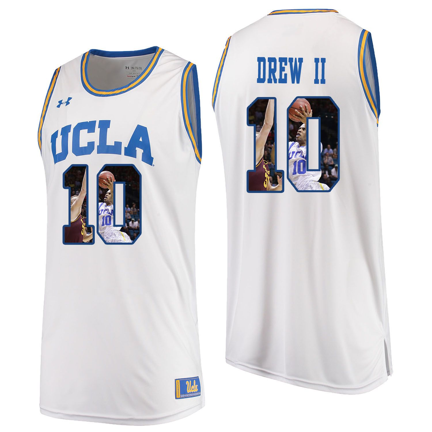 Men UCLA UA 10 Drew ii White Fashion Edition Customized NCAA Jerseys