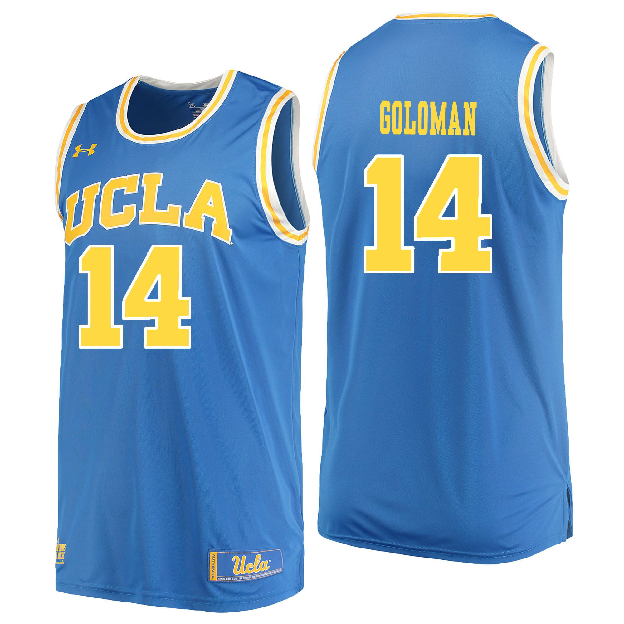 Men UCLA UA 14 Goloman Light Blue Customized NCAA Jerseys