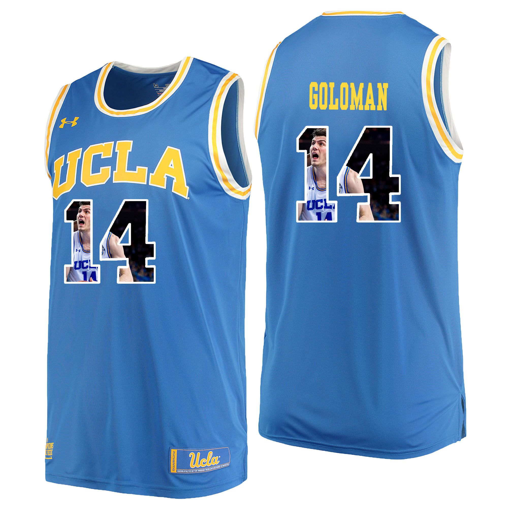 Men UCLA UA 14 Goloman Light Blue Fashion Edition Customized NCAA Jerseys