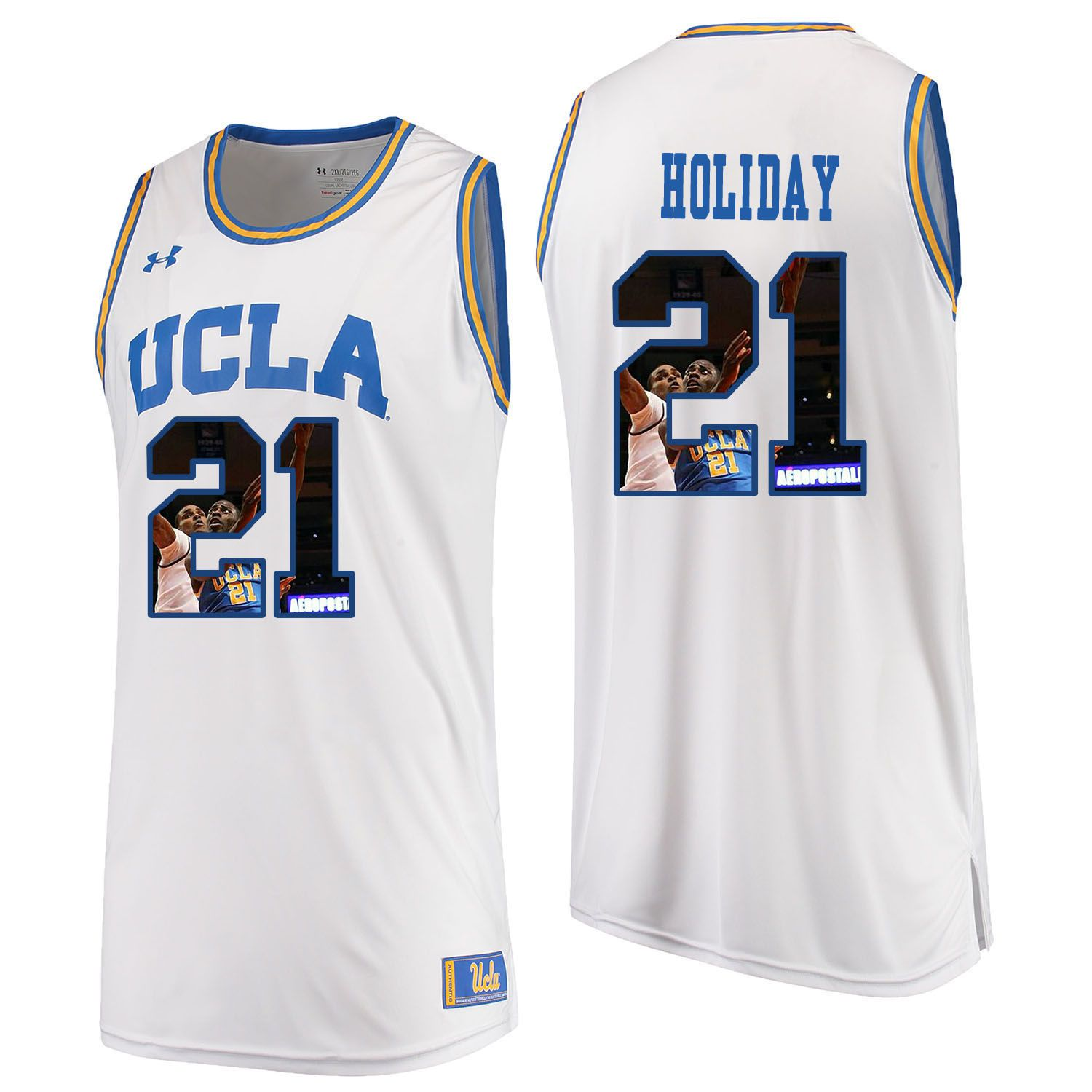 Men UCLA UA 21 Holiday White Fashion Edition Customized NCAA Jerseys
