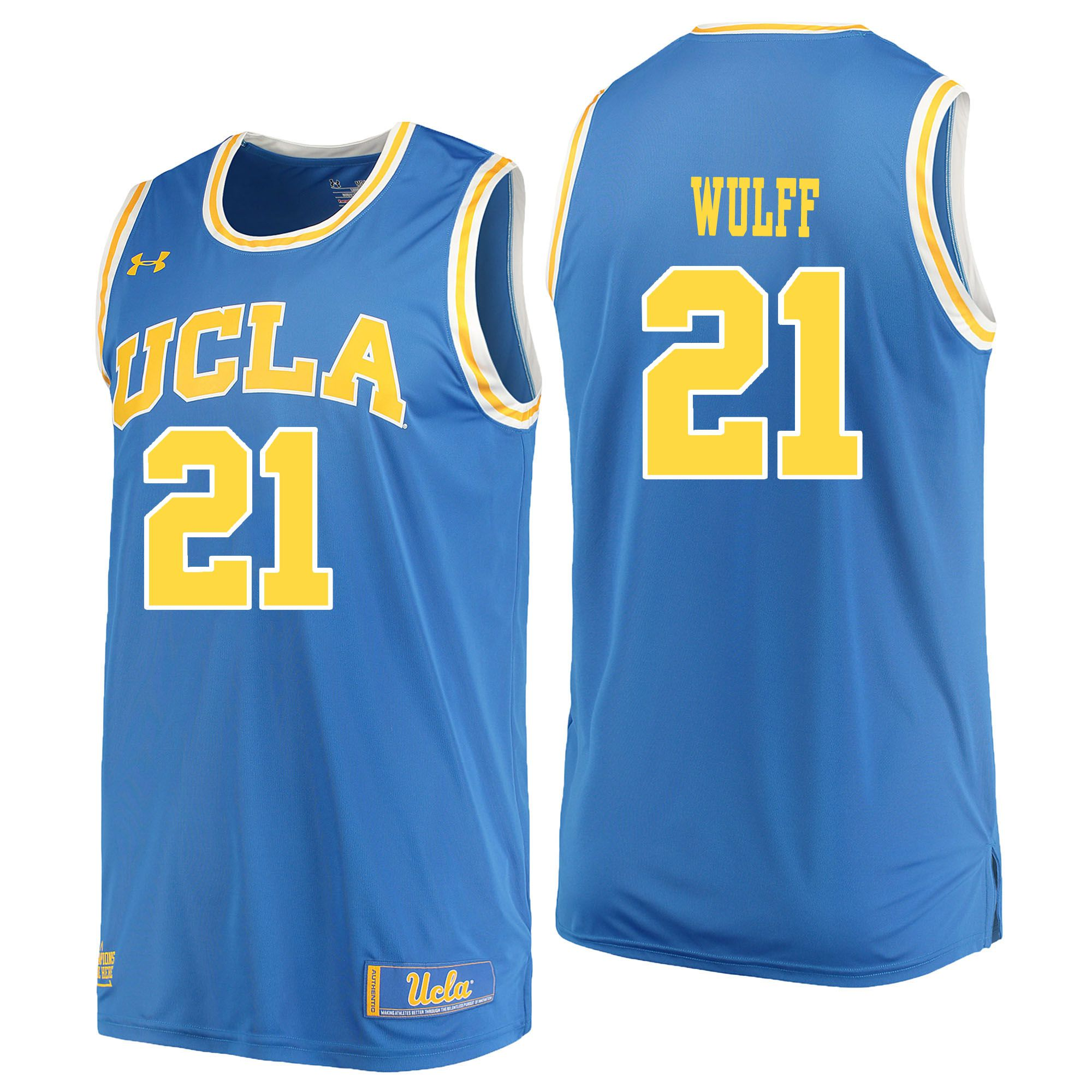 Men UCLA UA 21 Wulff Light Blue Customized NCAA Jerseys