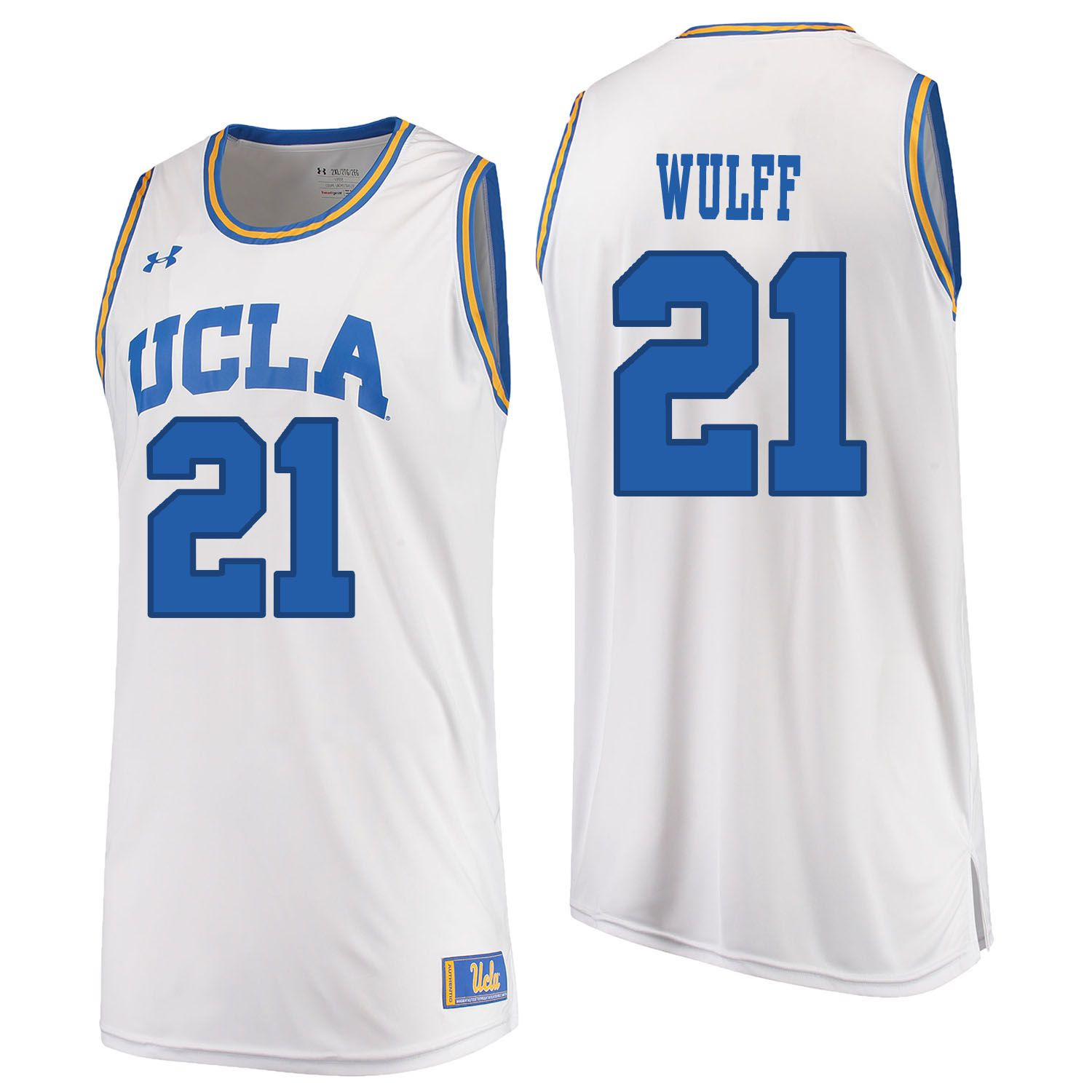 Men UCLA UA 21 Wulff White Customized NCAA Jerseys