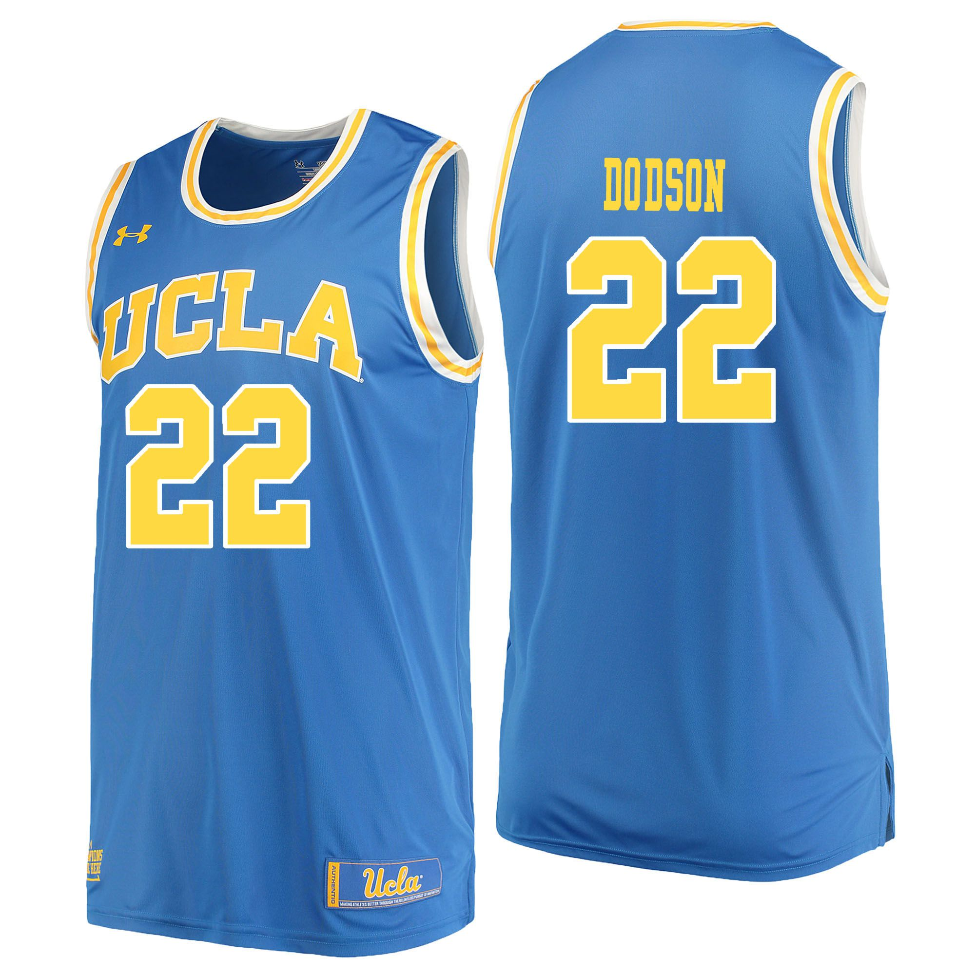 Men UCLA UA 22 Dodson Light Blue Customized NCAA Jerseys