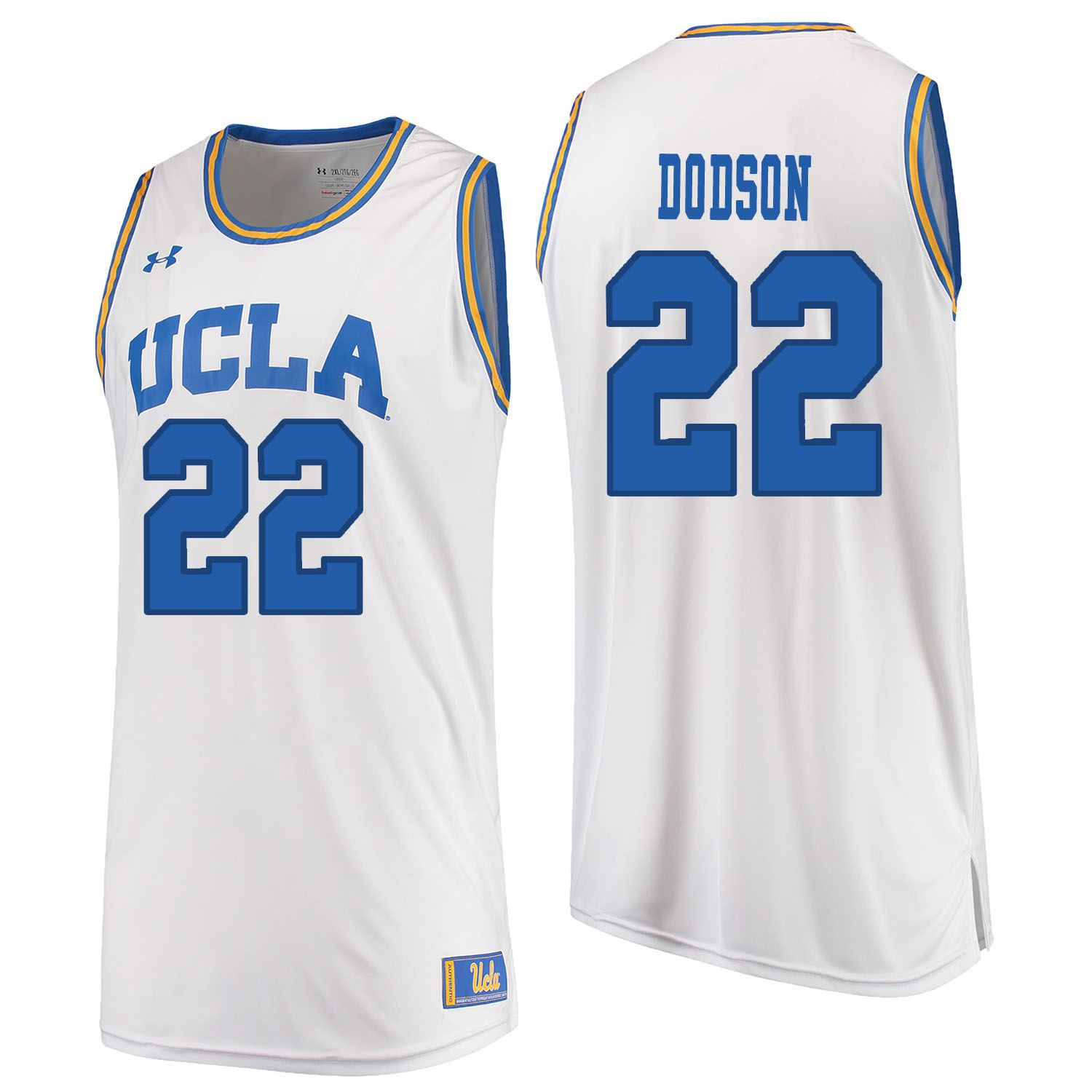 Men UCLA UA 22 Dodson White Customized NCAA Jerseys