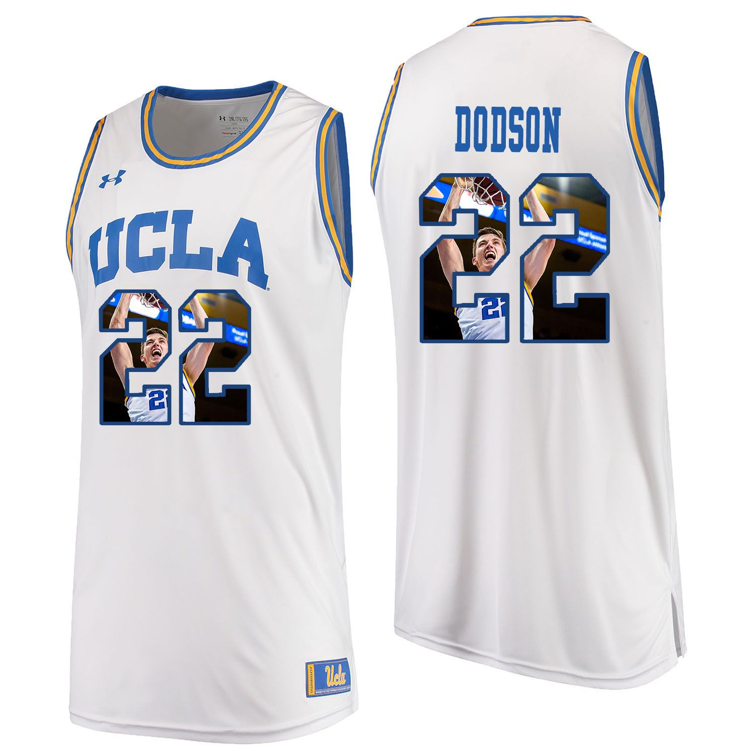 Men UCLA UA 22 Dodson White Fashion Edition Customized NCAA Jerseys