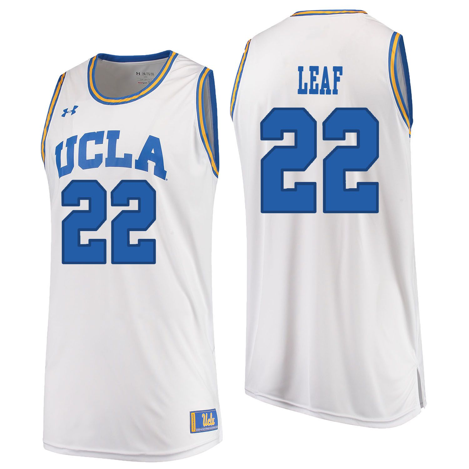 Men UCLA UA 22 Leaf White Customized NCAA Jerseys