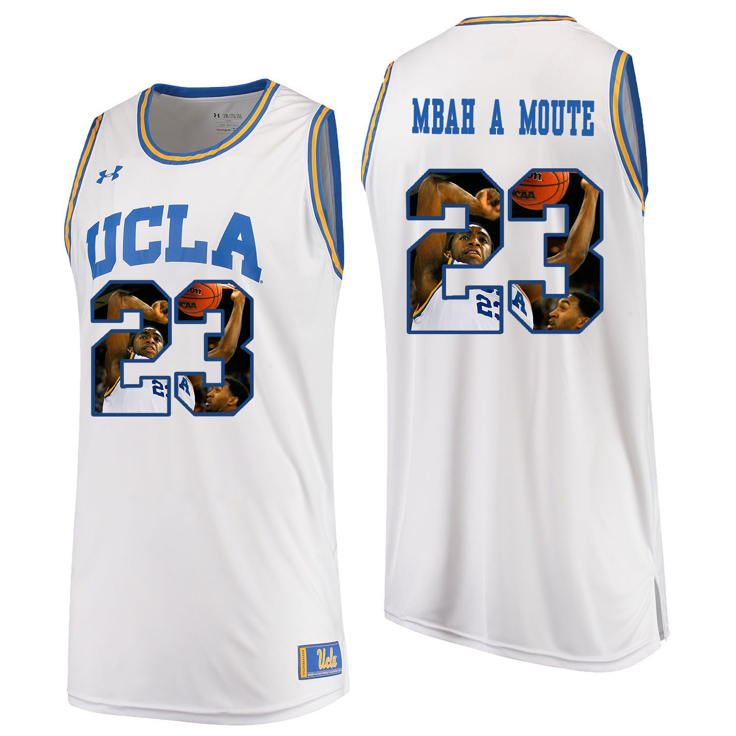 Men UCLA UA 23 Mbah A Moute White Fashion Edition Customized NCAA Jerseys