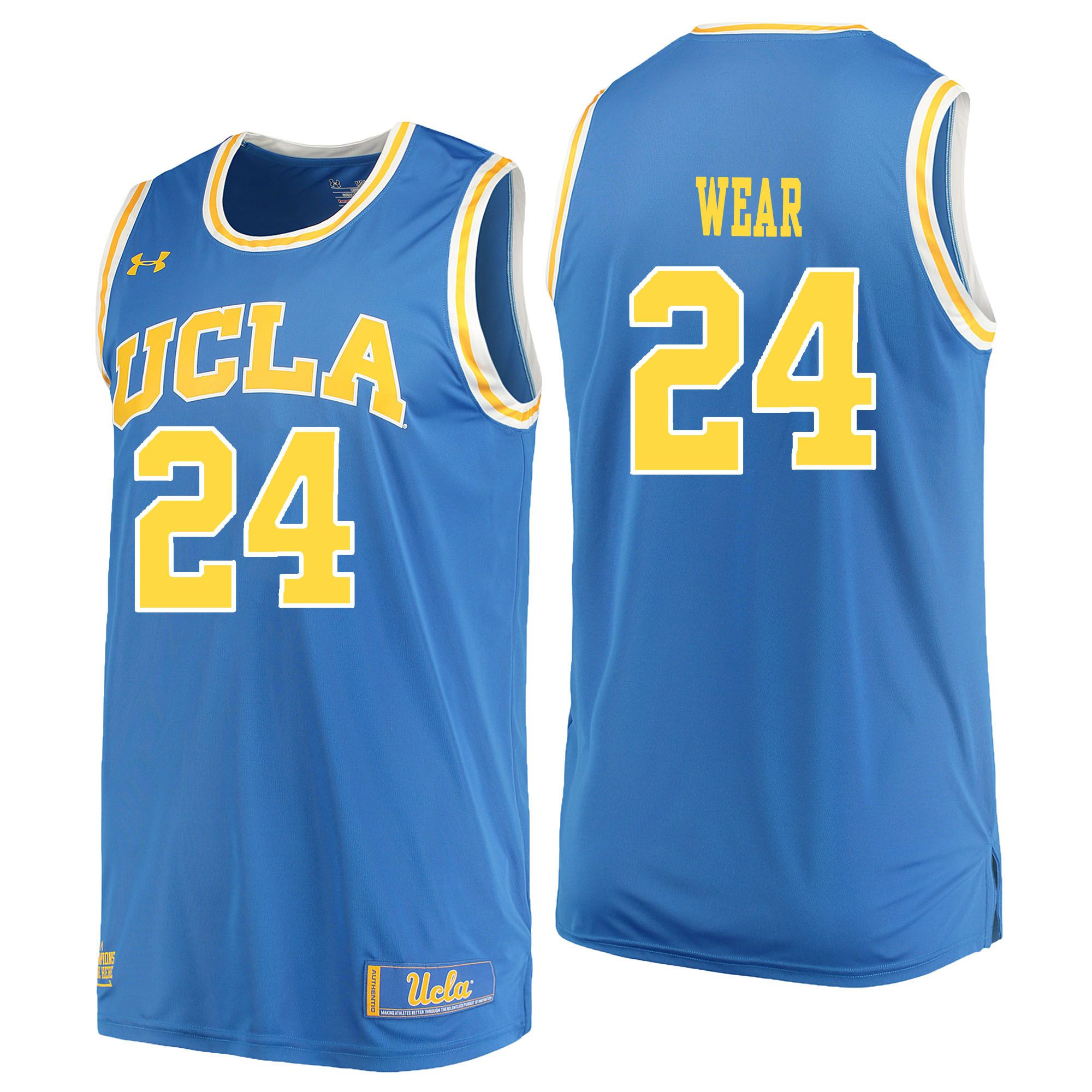 Men UCLA UA 24 Wear Light Blue Customized NCAA Jerseys