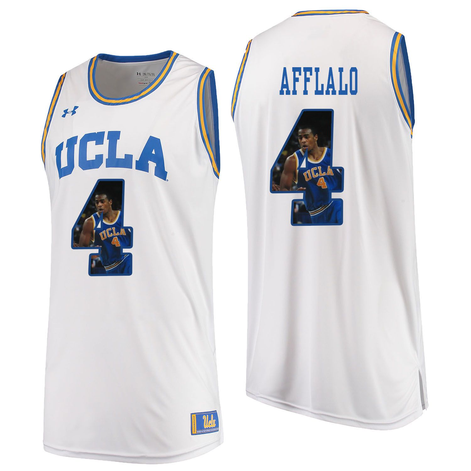 Men UCLA UA 4 Afflalo White Fashion Edition Customized NCAA Jerseys