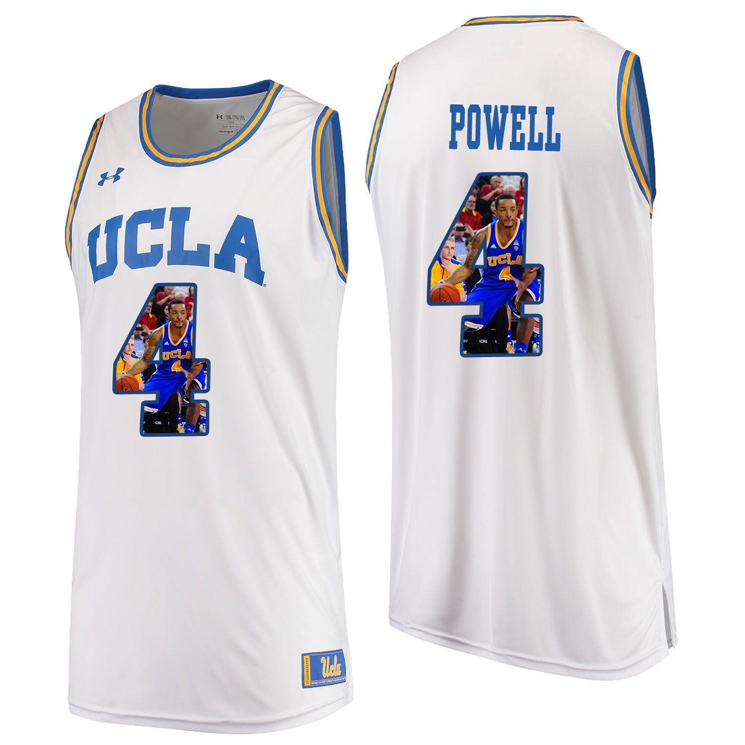 Men UCLA UA 4 Powell White Fashion Edition Customized NCAA Jerseys
