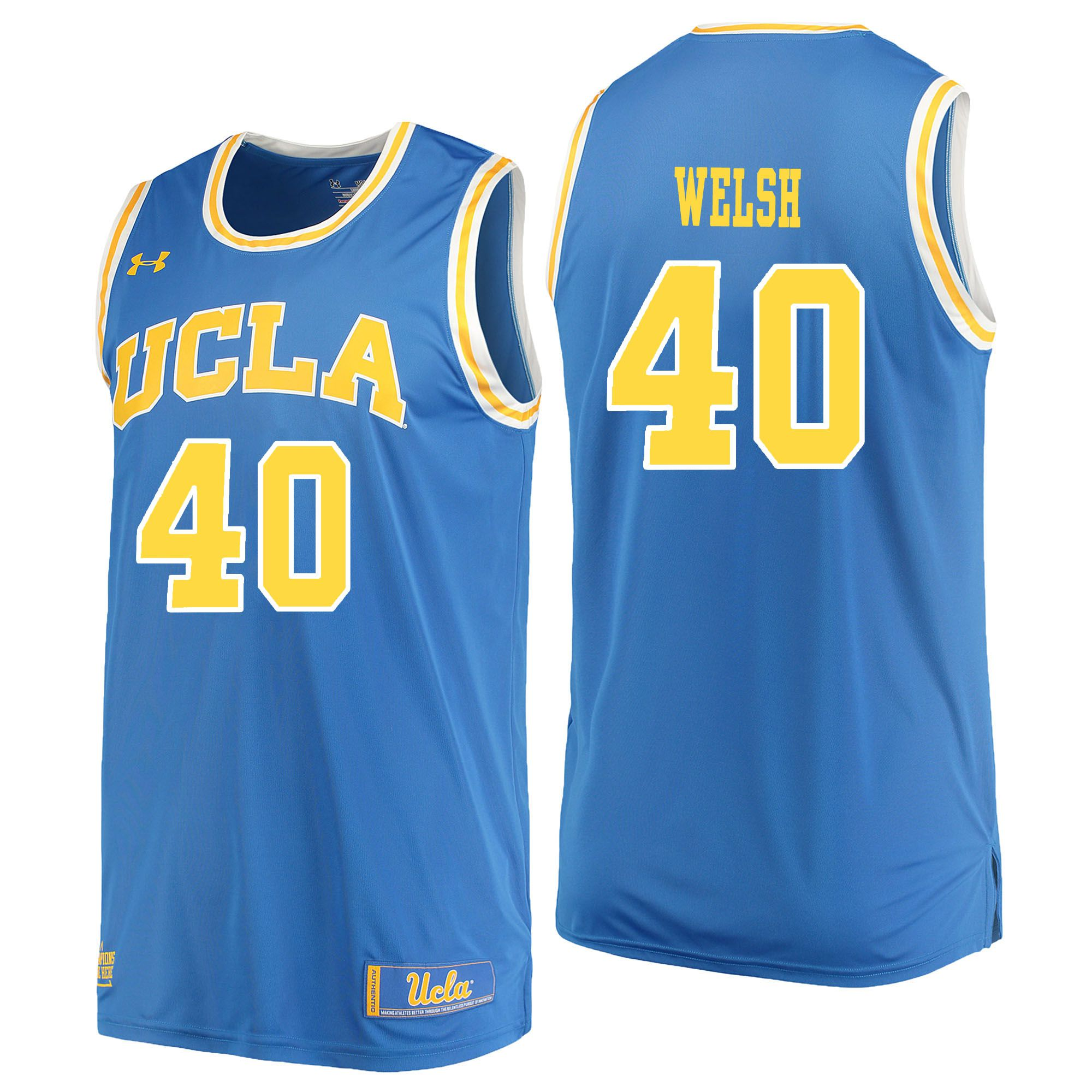 Men UCLA UA 40 Welsh Light Blue Customized NCAA Jerseys