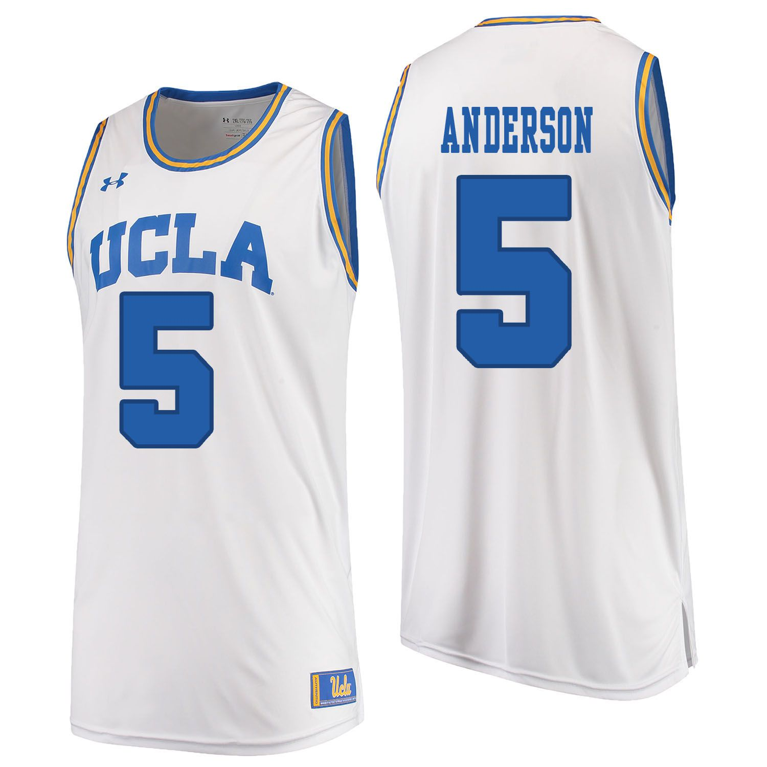 Men UCLA UA 5 Anderson White Customized NCAA Jerseys