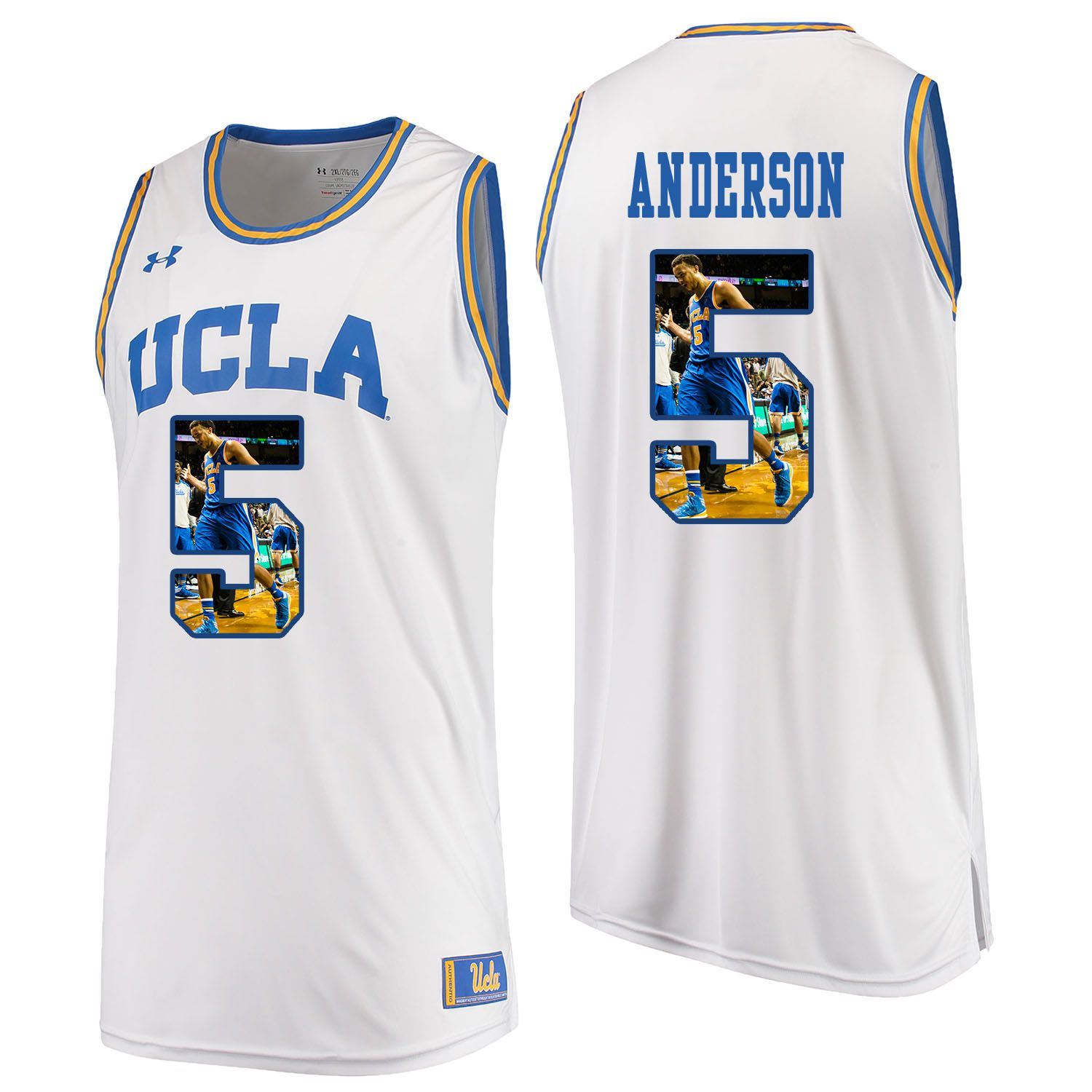 Men UCLA UA 5 Anderson White Fashion Edition Customized NCAA Jerseys