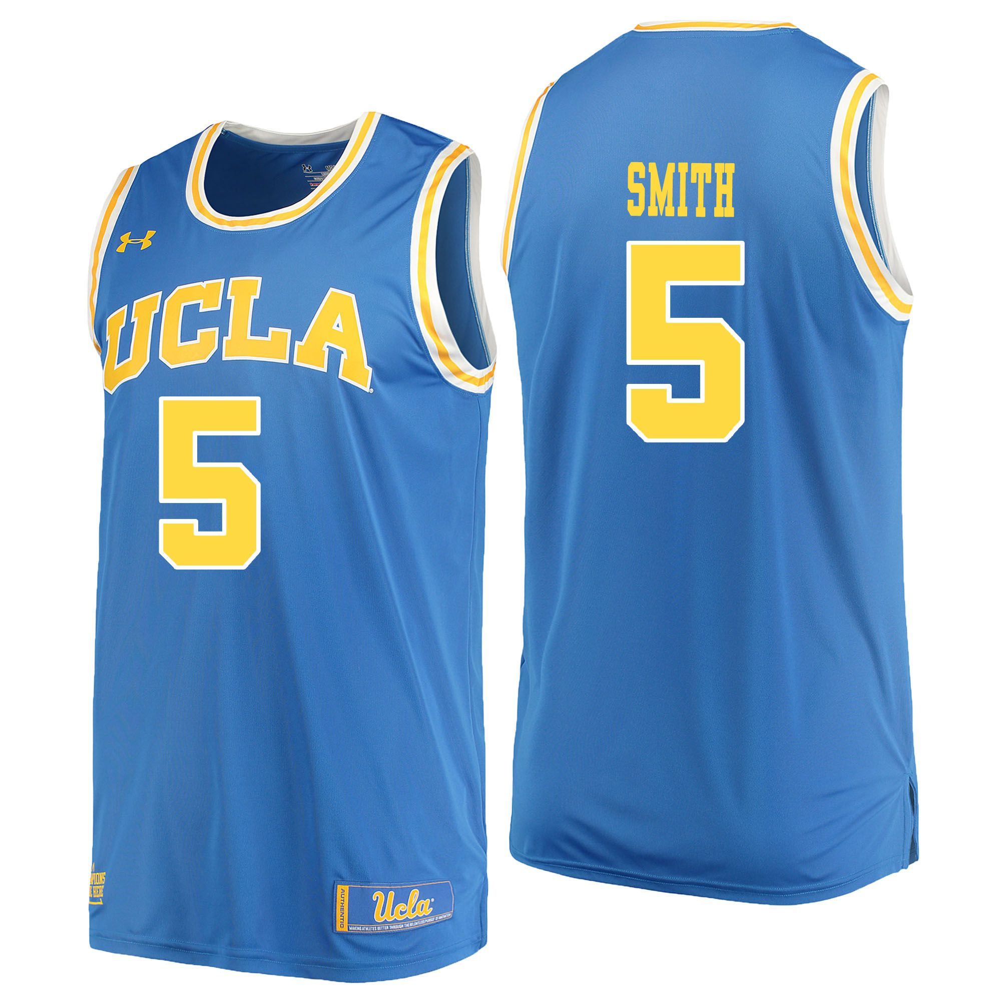 Men UCLA UA 5 Smith Light Blue Customized NCAA Jerseys