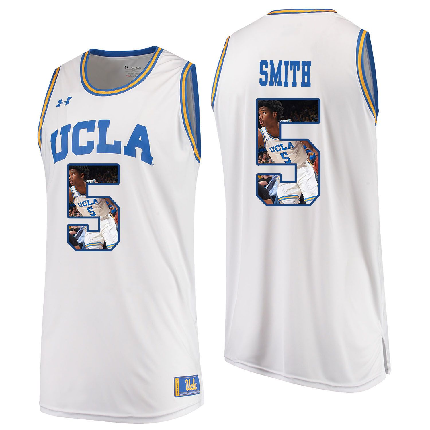 Men UCLA UA 5 Smith White Fashion Edition Customized NCAA Jerseys
