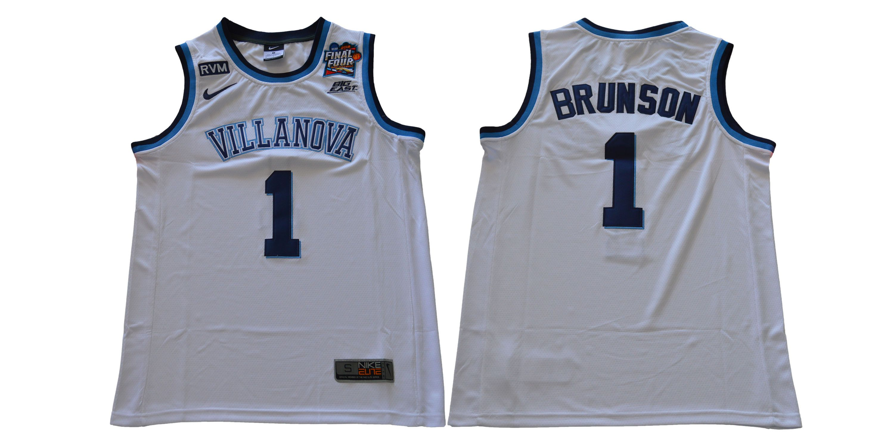 Men Villanova 1 Brunson White Nike NCAA Jerseys
