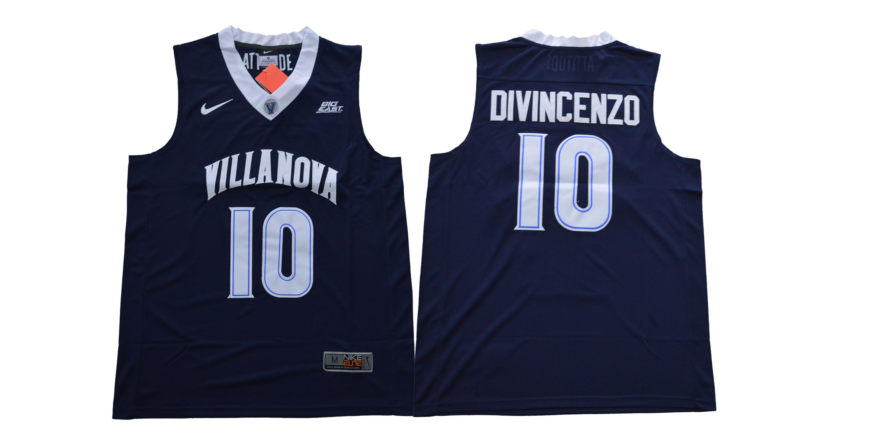 Men Villanova 10 Divincenzo Blue Nike NCAA Jerseys1