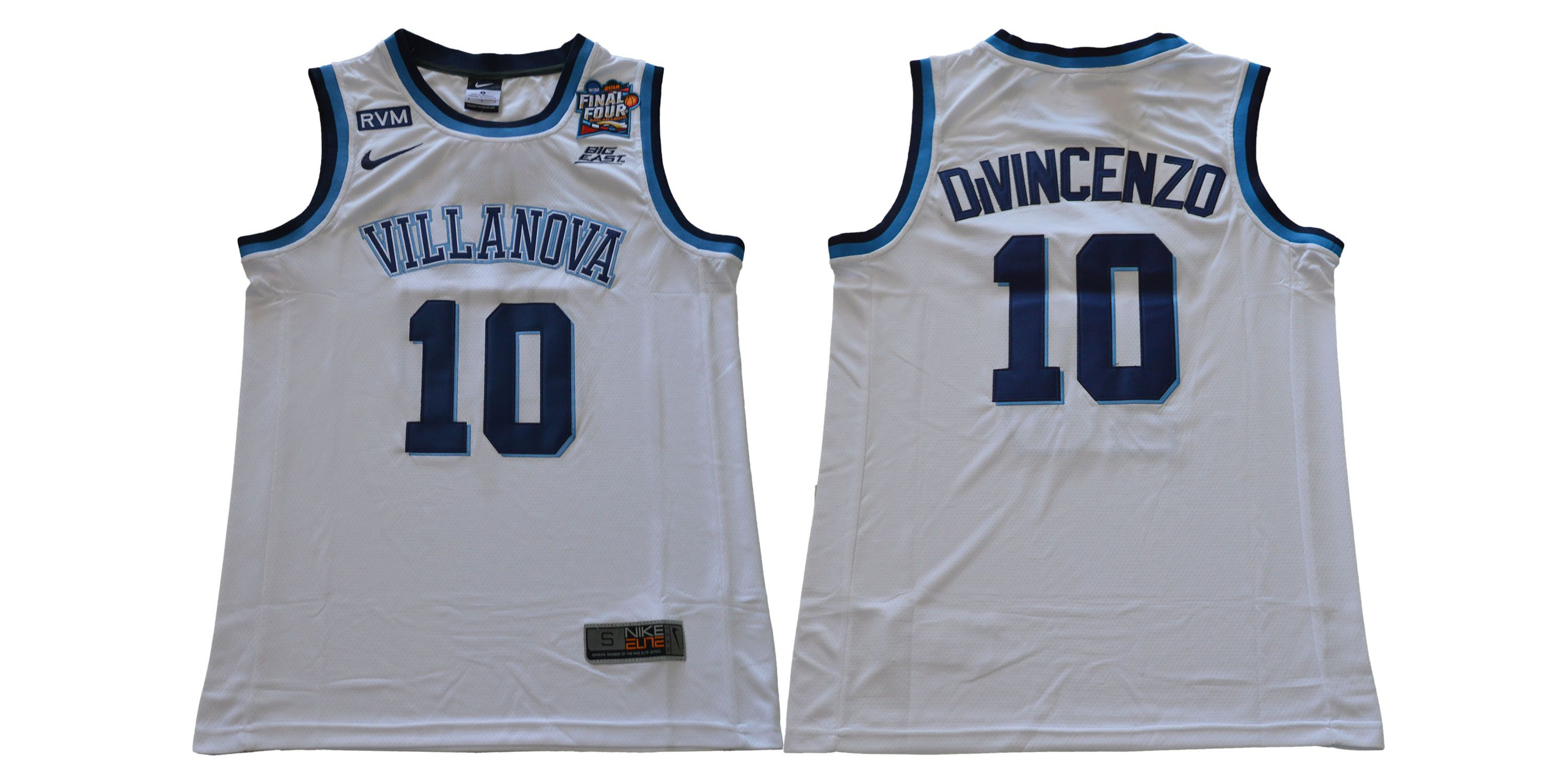 Men Villanova 10 Divincenzo White Nike NCAA Jerseys