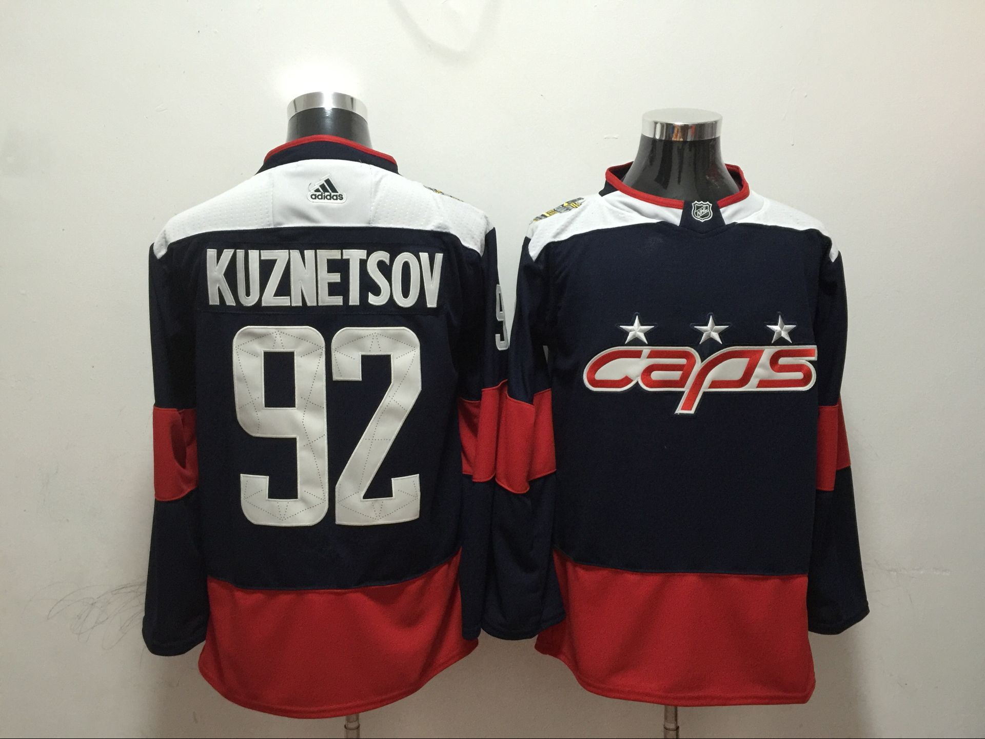Men Washington Capitals 92 Kuznetsov blue Adidas Hockey Stitched NHL Jerseys
