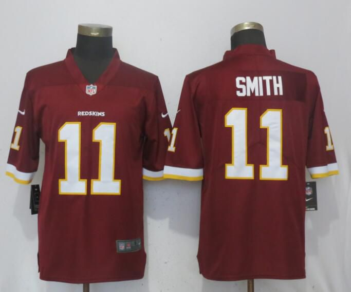 Men Washington Red Skins 11 Smith Red Nike Vapor Untouchable Limited Playe NFL Jerseys
