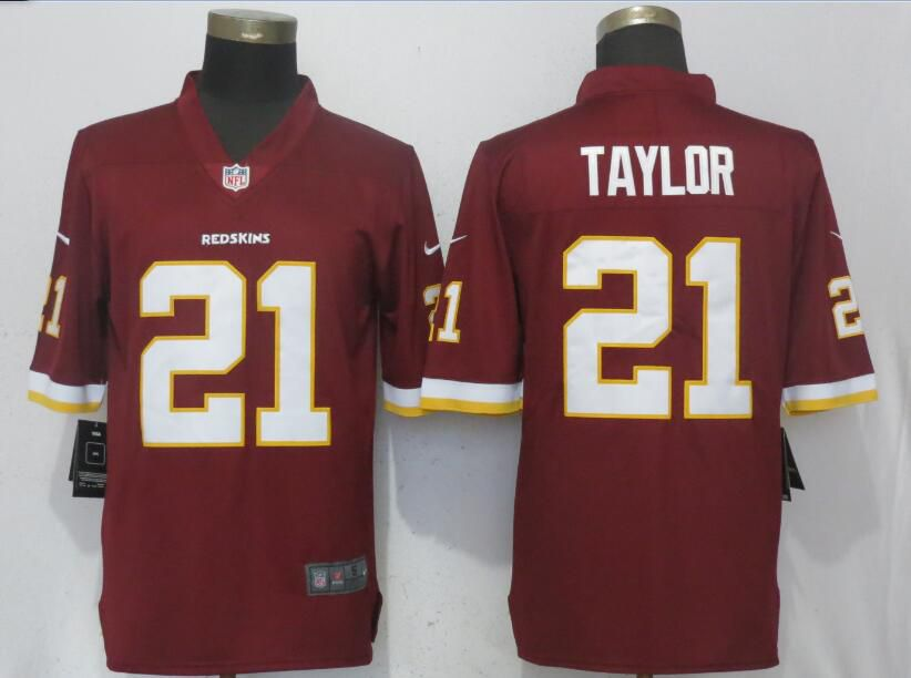 Men Washington Red Skins 21 Taylor Red Nike Vapor Untouchable Limited Playe NFL Jerseys