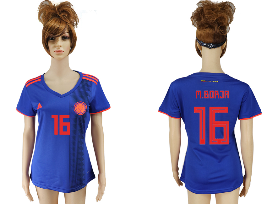 Women 2018 World Cup Colombia away aaa version 16 purple soccer jersey