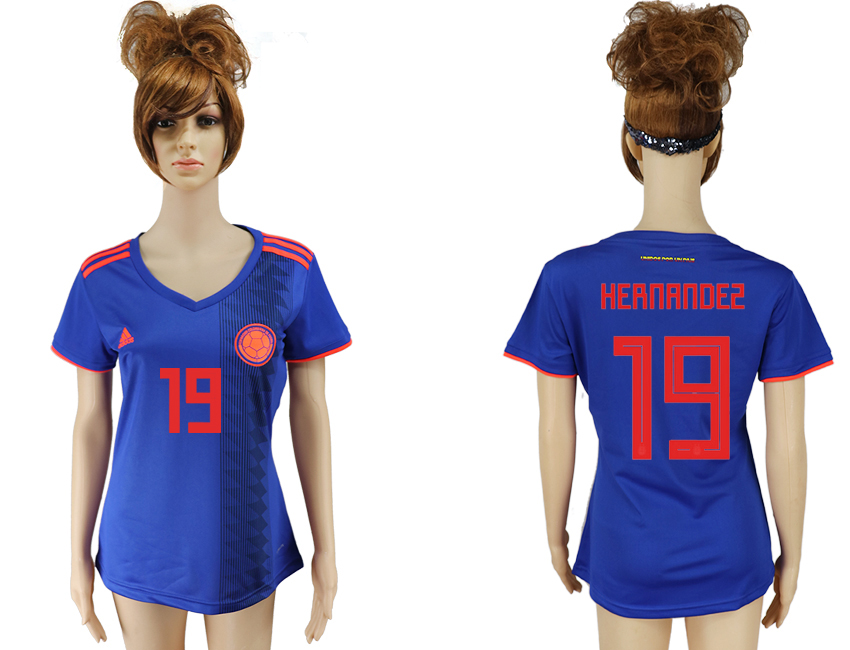 Women 2018 World Cup Colombia away aaa version 19 purple soccer jersey