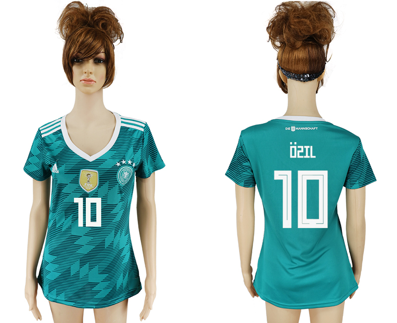 Women 2018 World Cup Germany away aaa version 10 green soccer jersey