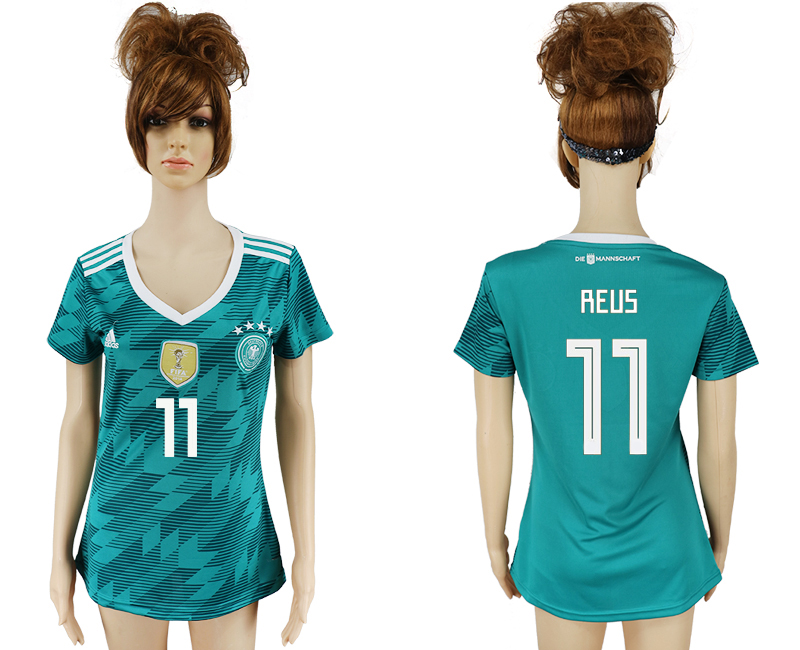 Women 2018 World Cup Germany away aaa version 11 green soccer jersey