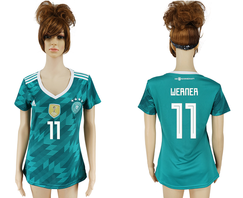 Women 2018 World Cup Germany away aaa version 11 green soccer jersey1