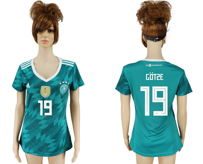 Women 2018 World Cup Germany away aaa version 19 green soccer jersey