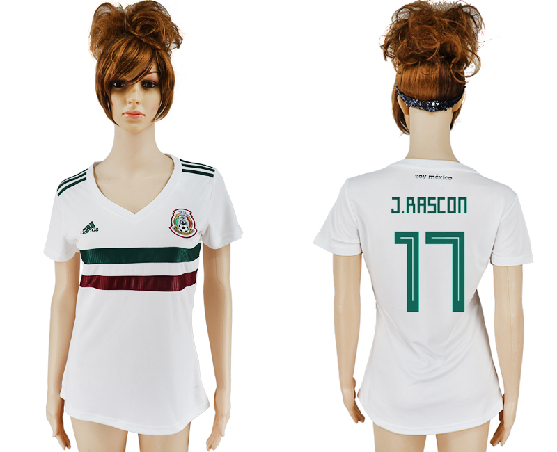 Women 2018 World Cup Mexico away aaa version 17 white soccer jersey