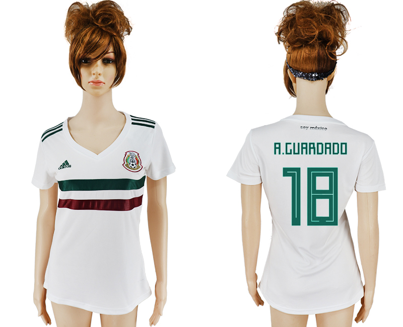 Women 2018 World Cup Mexico away aaa version 18 white soccer jersey