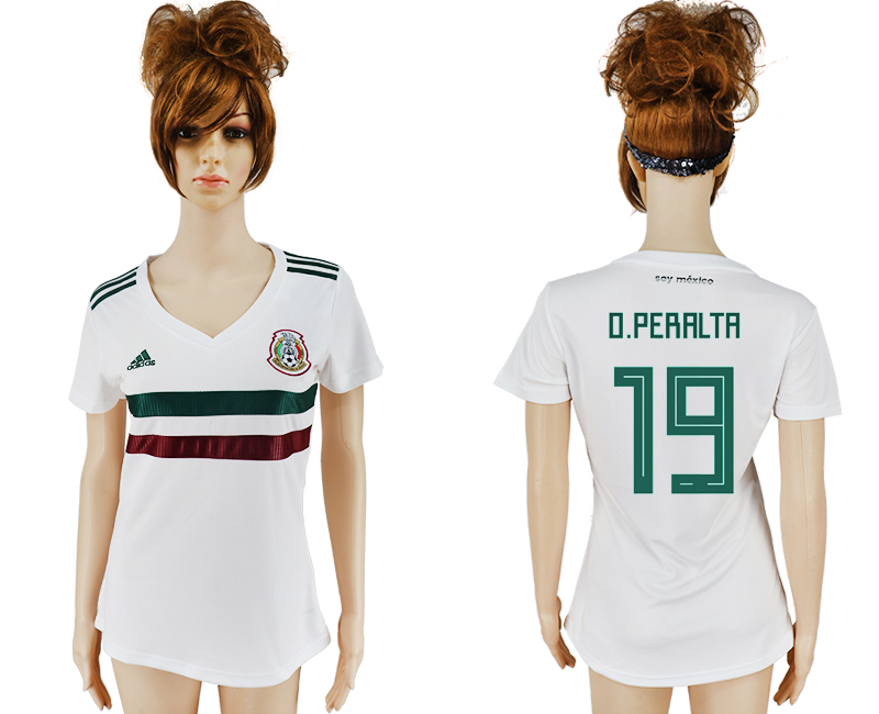 Women 2018 World Cup Mexico away aaa version 19 white soccer jersey
