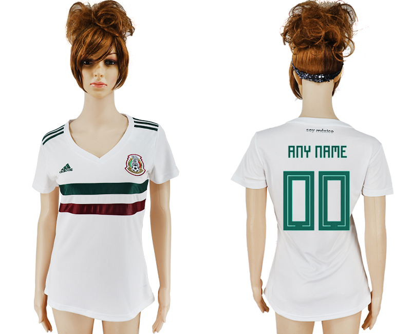 Women 2018 World Cup Mexico away aaa version customized white soccer jersey