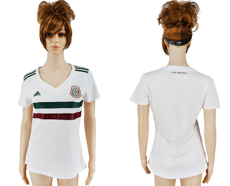 Women 2018 World Cup Mexico away aaa version white soccer jersey