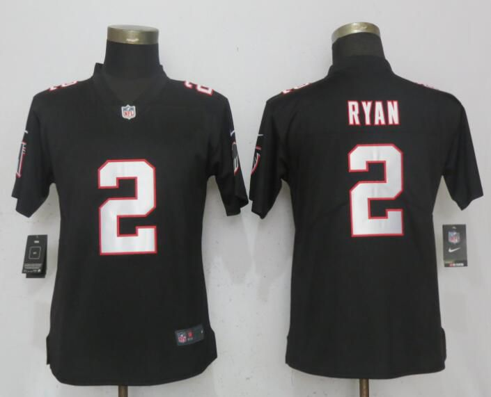 Women Atlanta Falcons 2 Ryan Black Nike Vapor Untouchable Limited NFL Jerseys