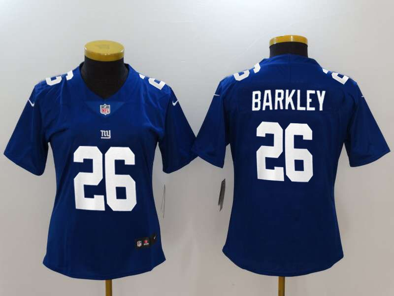 Women New York Giants 26 Barkley Blue Nike Vapor Untouchable Limited NFL Jerseys