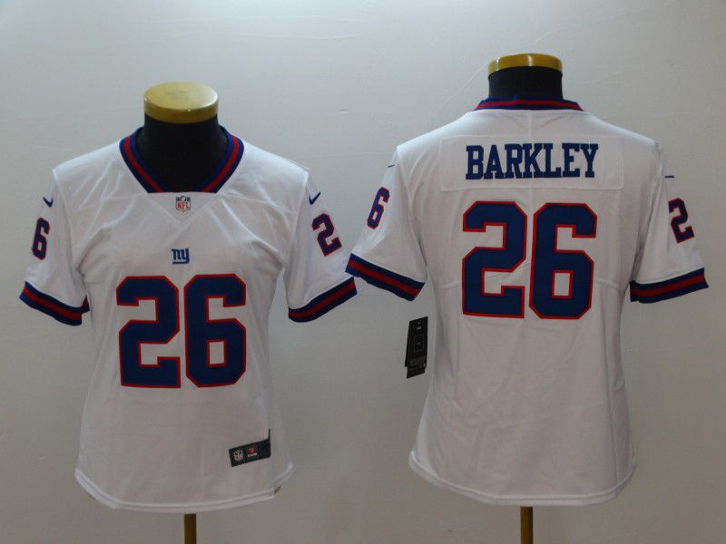 Women New York Giants 26 Barkley White Nike Vapor Untouchable Limited NFL Jerseys