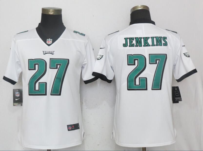 Women Philadelphia Eagles 27 Jenkins White Vapor Untouchable Playe Nike NFL Jerseys