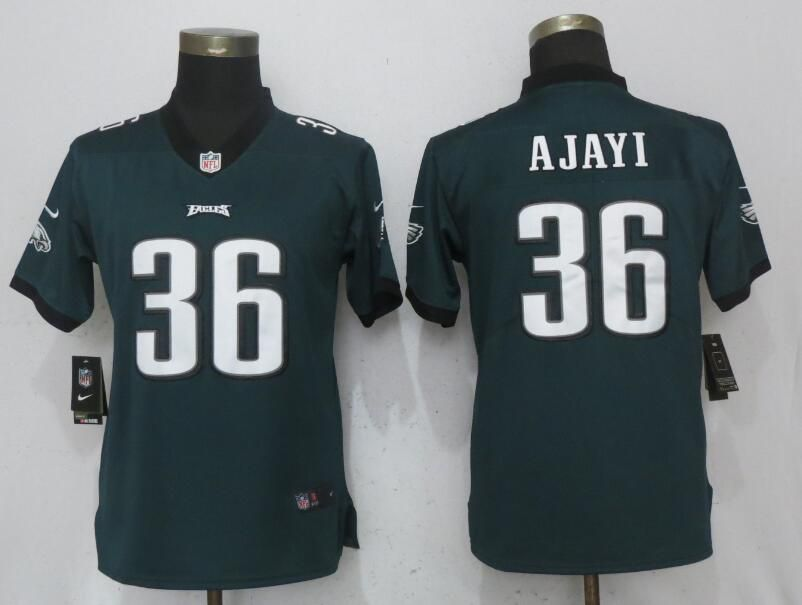 Women Philadelphia Eagles 36 Ajayi Green Nike Vapor Untouchable Limited NFL Jerseys