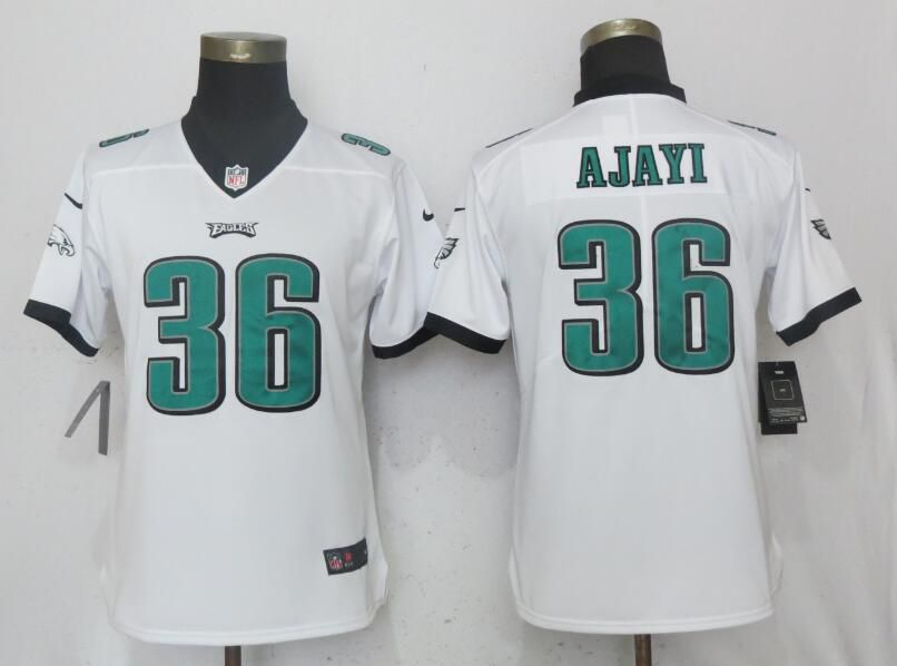 Women Philadelphia Eagles 36 Ajayi White Vapor Untouchable Playe Nike NFL Jerseys