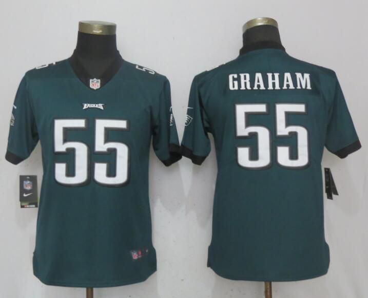 Women Philadelphia Eagles 55 Graham Green Nike Vapor Untouchable Limited NFL Jerseys
