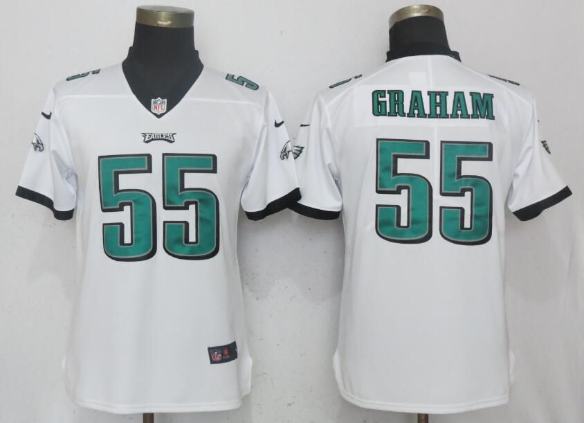 Women Philadelphia Eagles 55 Graham White Vapor Untouchable Playe Nike NFL Jerseys
