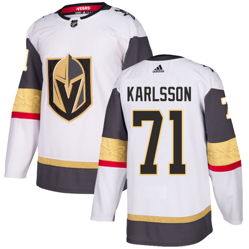 Women Vegas Golden Knights 71 Karlsson Fanatics Branded Breakaway Home White Adidas NHL Jersey