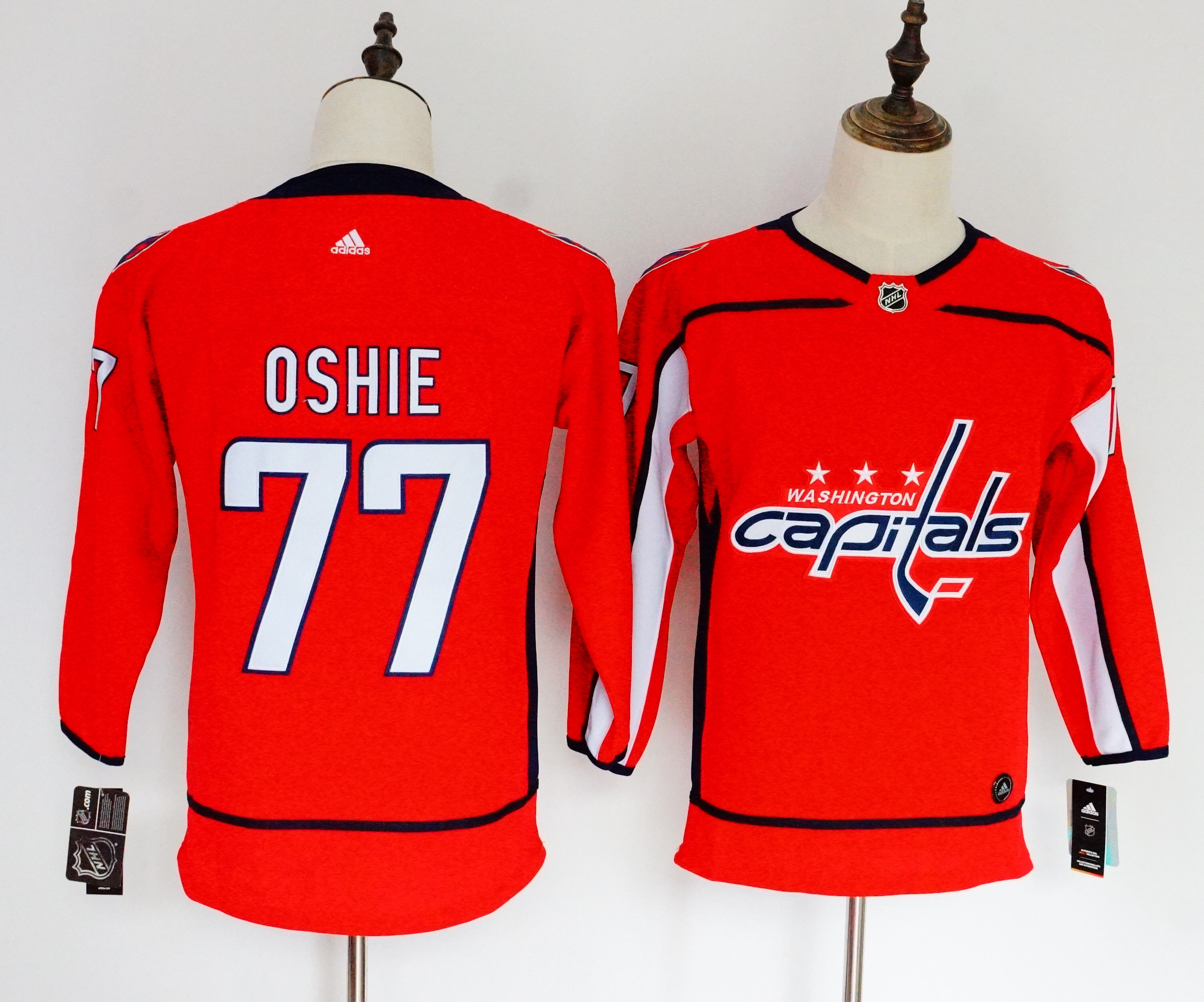 Women Washington Capitals 77 Oshie red Hockey Stitched Adidas NHL Jerseys