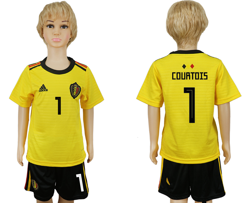 Youth 2018 World Cup Belgium away 1 yellow soccer jersey