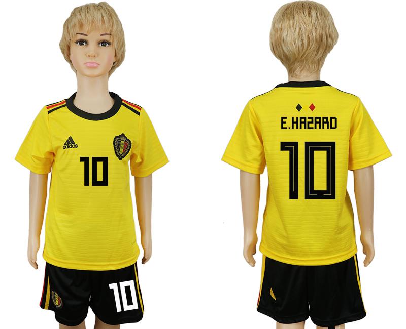 55a49da9d Youth 2018 World Cup Belgium away 10 yellow soccer jersey