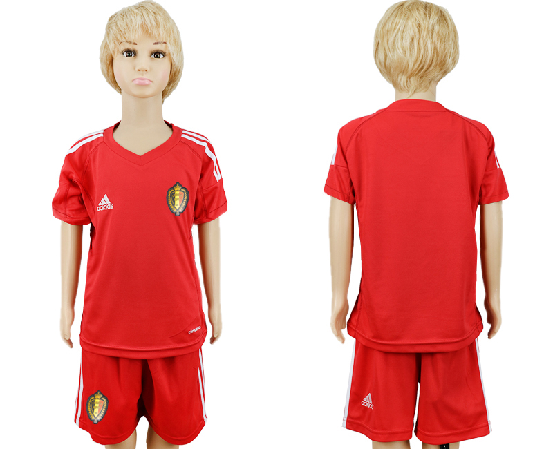 Youth 2018 World Cup Belgium red goalkeeper soccer jersey