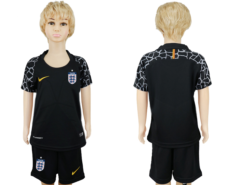 Youth 2018 World Cup England goalkeeper black soccer jersey